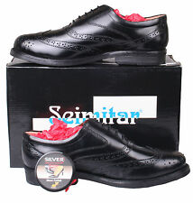 Mens Black Leather Formal Brogue Dress Shoes Size 6 7 8 9 10 11 12 13 14