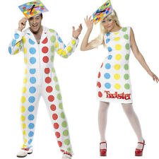 Twister Fancy Dress Costume - Mens / Ladies Official Adult 80s Game Outfit