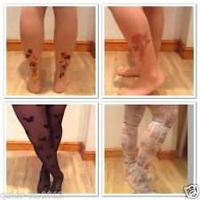 PRIMARK TIGHTS KITSCH MICKEY MOUSE CARTOON MICKEY MOUSE TATTOO ROSE TATTOO