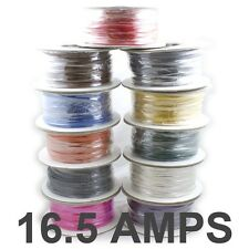50M Roll *16.5 AMP Rated* 1mm2 Thin Wall Single Core Cable - Car Wire LED Lights