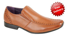 Mens New Tan Slip On Shoe Size 7 8 9 10 11 Work Casual Wedding Office
