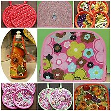 Machine Quilted Kitchen Appliance Covers Toasters Potholders +++  Made to Order