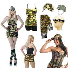 New CAMOUFLAGE OUTFIT ACCESSORIES TUTU SKIRT BAG WRIST SHORTS VEST ARMY TROUSERS