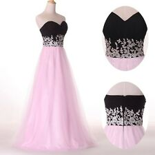 Chiffon Tulle Applique Party Formal Bridesmaid Banquet Prom Evening Gown Dresses