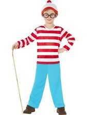 BOYS WHERE'S WALLY FANCY DRESS COSTUME CHILDRENS WHERES OUTFIT + HAT + GLASSES