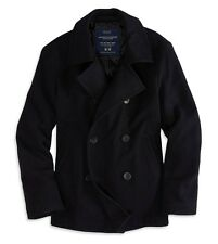 NWT American Eagle Wool Pea Coat Peacoat Navy S M L XL XLT LT MT $129.99