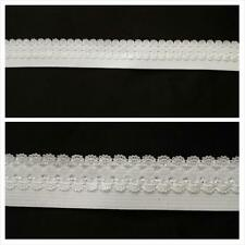 10 yards white picot elastic trim 3 different style &size great 4 lingerie