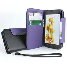 For HTC Evo 4G One LTE Flip Wallet Hybrid PU Leather Case Cover Pouch w/Strap