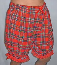 TARTAN BLOOMERS PANTS TROUSERS SISSY GIRL DRESSING UP BURLESQUE NEW