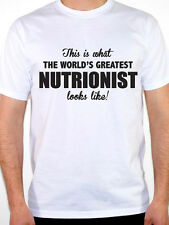 WORLDS GREATEST NUTRITIONIST - Diet / Food / Novelty / Fun Themed Mens T-Shirt