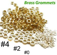 "New MTN Brass Grommets & Washers Grommet #0 #2 #4 1/4"" 3/8"" 1/2"" Banner Signage"