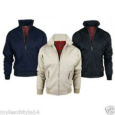 Mens Classic Vintage Bomber Harrington Gents Casual Outdoor Jacket Coat S-XXL