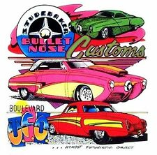 THE ICONIC STUDEBAKER BULLET NOSE CUSTOM & PRO STREET CAR T-SHIRT  TB53