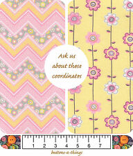 CHEVRON FLORAL Woven Cotton and Floral Flannel Fabric   U Choose