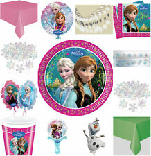 DISNEY FROZEN GIRLS BIRTHDAY PARTY DECORATIONS CUPS PLATES BUY OFF  THIS ADVERT