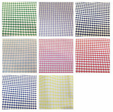 "Corded Gingham Fabric 1/8"" (3mm) Check Dress Material  - 44"" (112cm) wide"