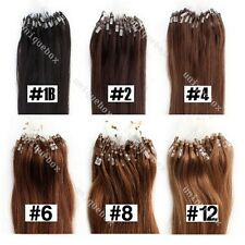 100 ciocche Remy Loop/Micro Ring Extensions Human Hair Extension capelli veri