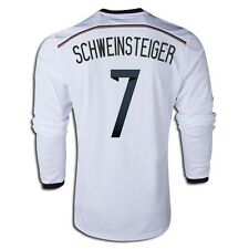 ADIDAS SCHWEINSTEIGER GERMANY LONG SLEEVE HOME JERSEY FIFA WORLD CUP BRAZIL 2014