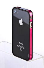 Fashion Bumper Frame TPU Silicone Case cover Skin for iPhone 4 4S W/Buttons -