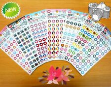 New Taiwan Sonnig Binder Ring Reinforcement Label Stickers 50 Each Binder Holes