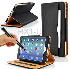 BLACK & TAN STAND SMART MAGNETIC LEATHER CASE COVER FOR NEW APPLE IPAD 2 3 4 AIR