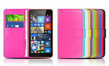 PU Leather Wallet Flip Case Cover For Various Nokia Lumia Mobile Phones