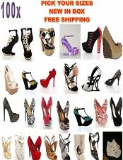 100 PCS Wholesale Shoe lots Women Stiletto Pumps Heels Wedges High end shoes
