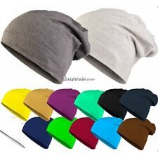 Women Men Slouch Winter Knit Hip-hop Cap Beanie Hat Ski Crochet 9 Colors ESY1
