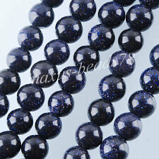 Free Shipping Blue Sand Globe Loose Beads Gemstone 10MM 8MM 6MM 4MM MBG023