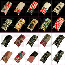 Fun Acrylic PreDesigned Nail Tips Gel Manicure UK Seller Fast Postage