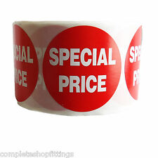 1000x RED PRICE SPECIAL PRICE SELF ADHESIVE STICKERS STICKY LABELS SWING LABELS