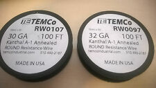 Temco Kanthal A1 Wire Annealed 28, 30, or 32 GA 10' - 100'