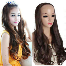 fashion new 3/4 half wig women/girl full long curly wave hair wigs clips in wig