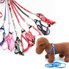 New Pet Dog Cat Puppy Printing Leading Harness Belts Leash Set for XS-M size Dog