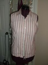 KIM ROGERS LADIES SIZE L SLEEVELESS BUTTON UP BLOUSE SLEEVELESS SHIRT TOP