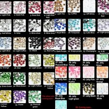 2/3/4/5/6mm Crystal Flat Back Acrylic Rhinestones Gems 50+ colors ss6/12/16/20