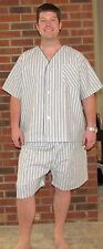"""Men's Pajamas Shortie, Stripes, """"Made in USA"""" Great Price for Summer"""