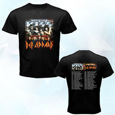 Kiss Def Leppard Summer Tour June-August black 2014 t-shirt