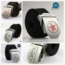 Stainless Steel Buckle Military Army Style Mens Womens Sports Web Canvas Belt