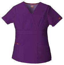 Dickies Scrubs 86806 Eggplant V Neck Scrub Top Dickies EDS Signature EGWZ