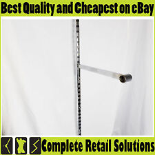 NEW CHROME STRAIGHT ARM HOOK FOR UPRIGHT BRACKET FOR SHOP FITTING RETAIL 35 CM