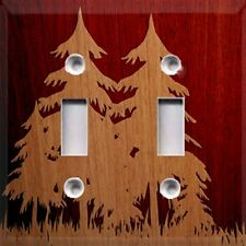 Wood Trees Silhouette ~Light Switch Plate Cover ~Rustic~Home Decor
