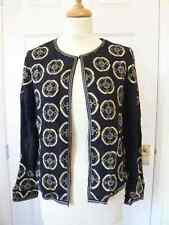 Fab new Monsoon top quality beaded lined crepe jacket RRP was £89 size 10 to 18