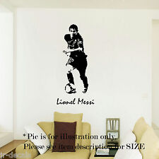 Lionel Messi Barcelona Football Sport Wall Art Stickers Decal Mural Vinyl Poster