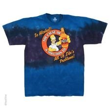 New The SIMPSONS Tie Dye T-Shirt ALCOHOL, The CAUSE AND SOLUTION/PROBLEMS -HOMER