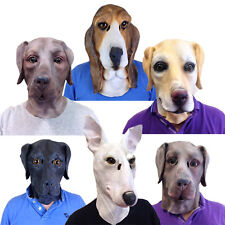 NEW Latex Dog Animal Masks for Adults Movie Quality Fancy Dress Stag Party