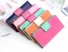 TOO SLIM WALLET -With Alice - Bifold Clutch Long Flat Wallet - Zipper Coin Purse