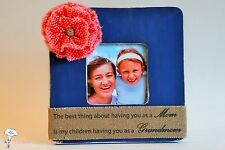 Mother's Day Grandmom Picture Frame Gift Grandmother Quote CHOOSE Size, Color