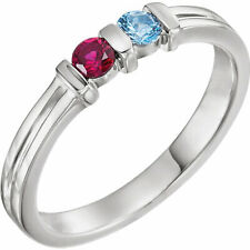 Mother's Jewelry Sterling Silver 1-3 Round Birthstones Mothers Ring, Moms gift