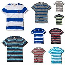 New HOLLISTER  Men Muscle Fit Swami 's Beach V Neck  T-Shirt Tee By Abercrombie